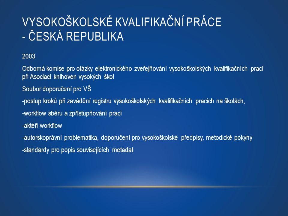Vysokoškolské kvalifikační práce - Česká republika