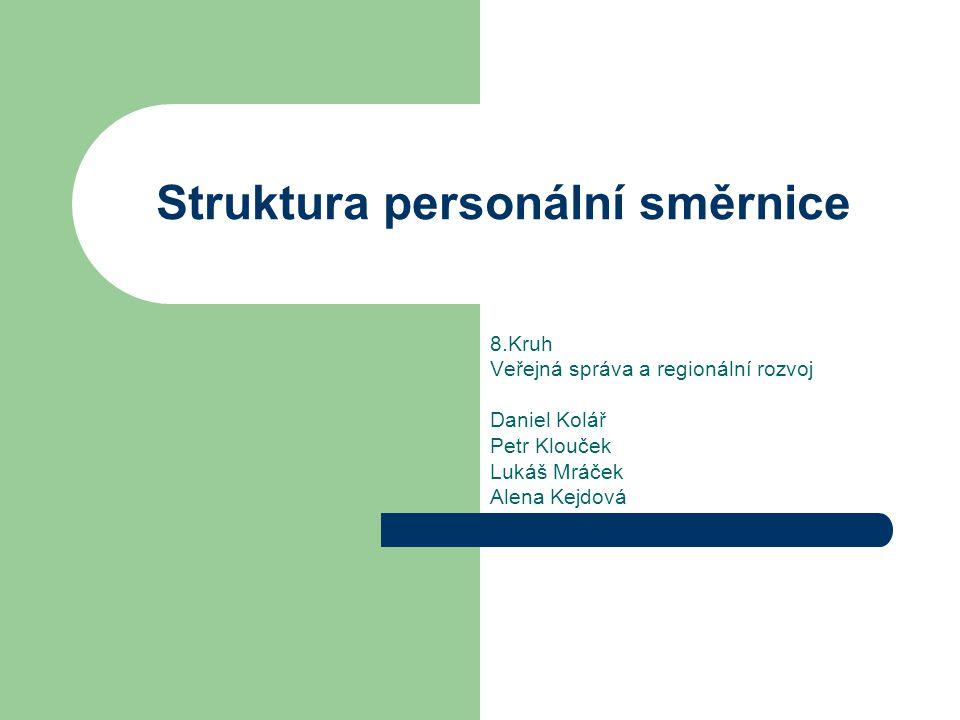 Struktura personální směrnice