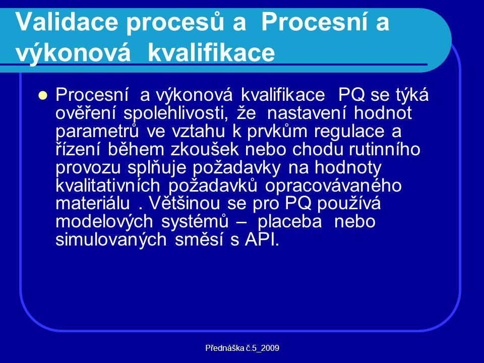 Validace procesů a Procesní a výkonová kvalifikace