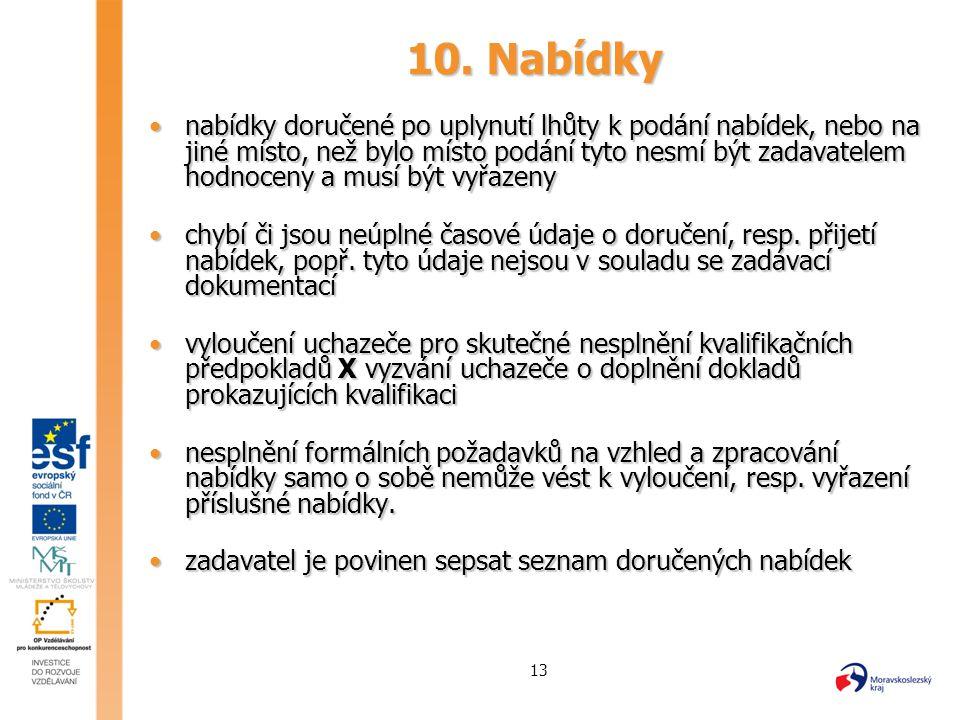 10. Nabídky