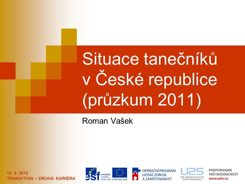 Situace tanečníků v České republice (průzkum 2011)