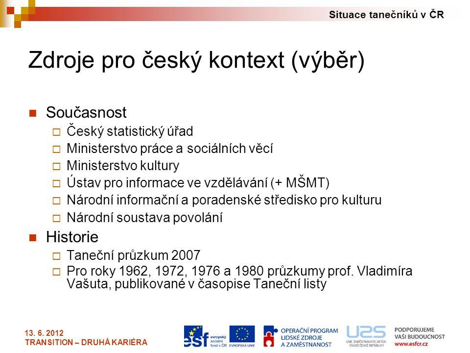 Zdroje pro český kontext (výběr)