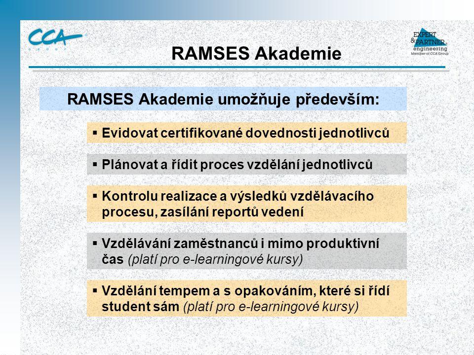 RAMSES Akademie umožňuje především:
