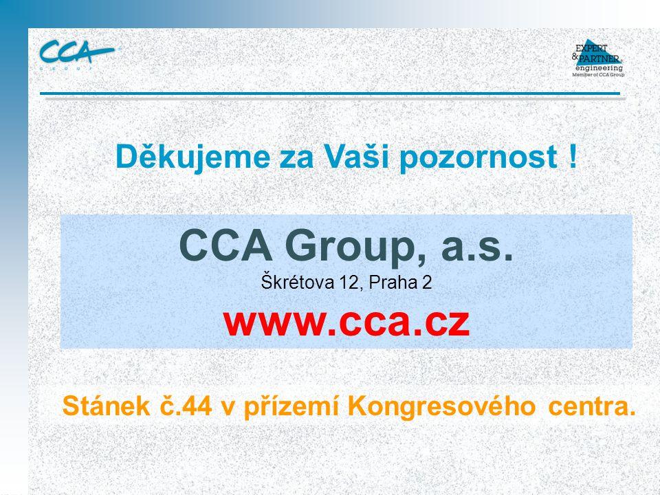 CCA Group, a.s. Škrétova 12, Praha 2 www.cca.cz