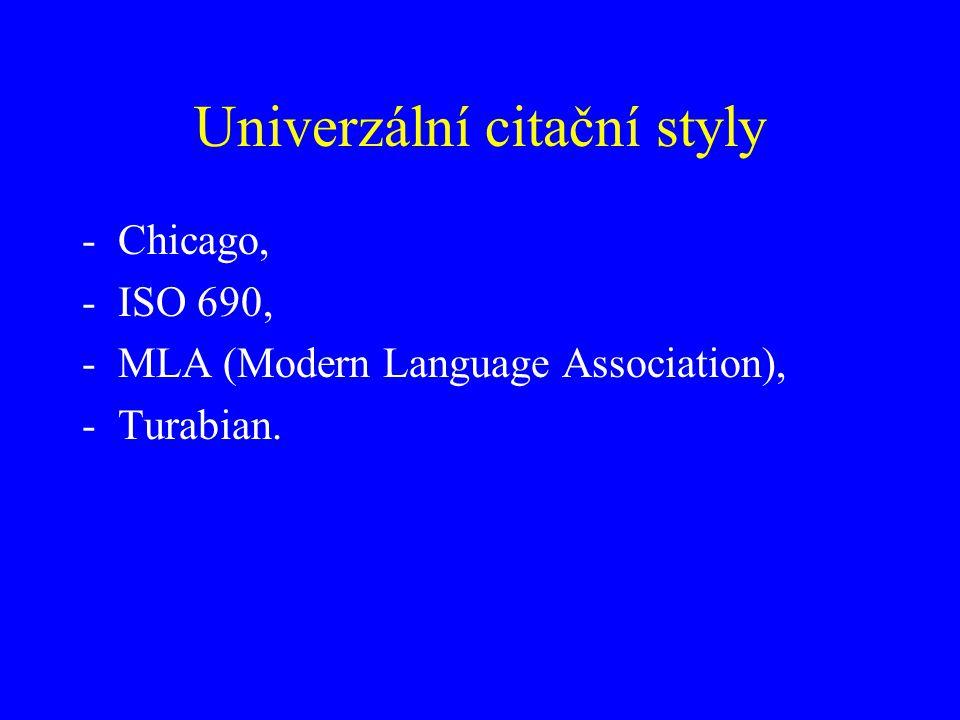 Univerzální citační styly
