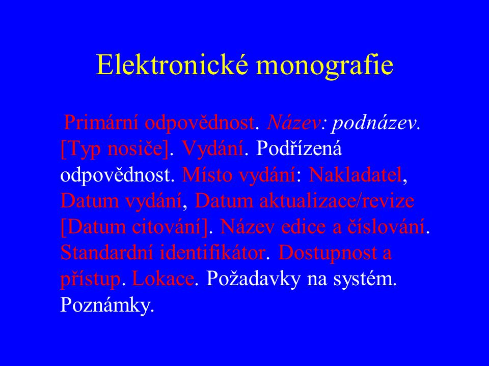 Elektronické monografie