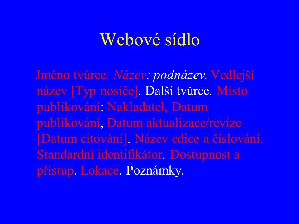 Webové sídlo