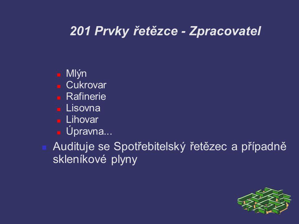 201 Prvky řetězce - Zpracovatel