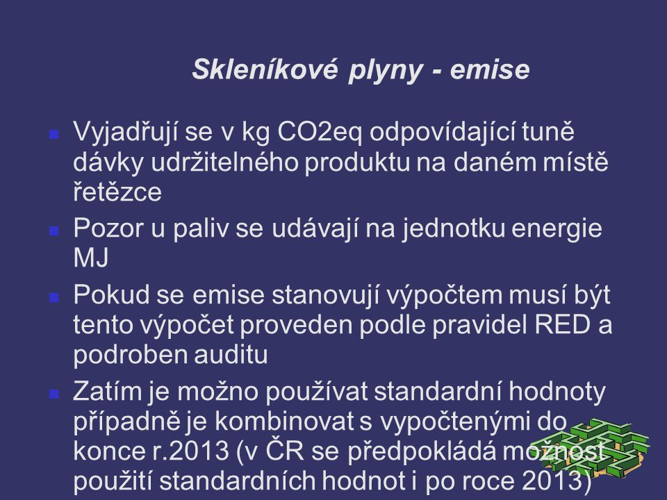 Skleníkové plyny - emise