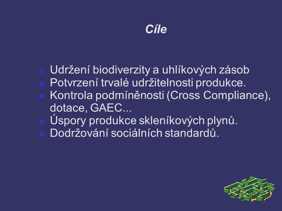 Cíle Udržení biodiverzity a uhlíkových zásob