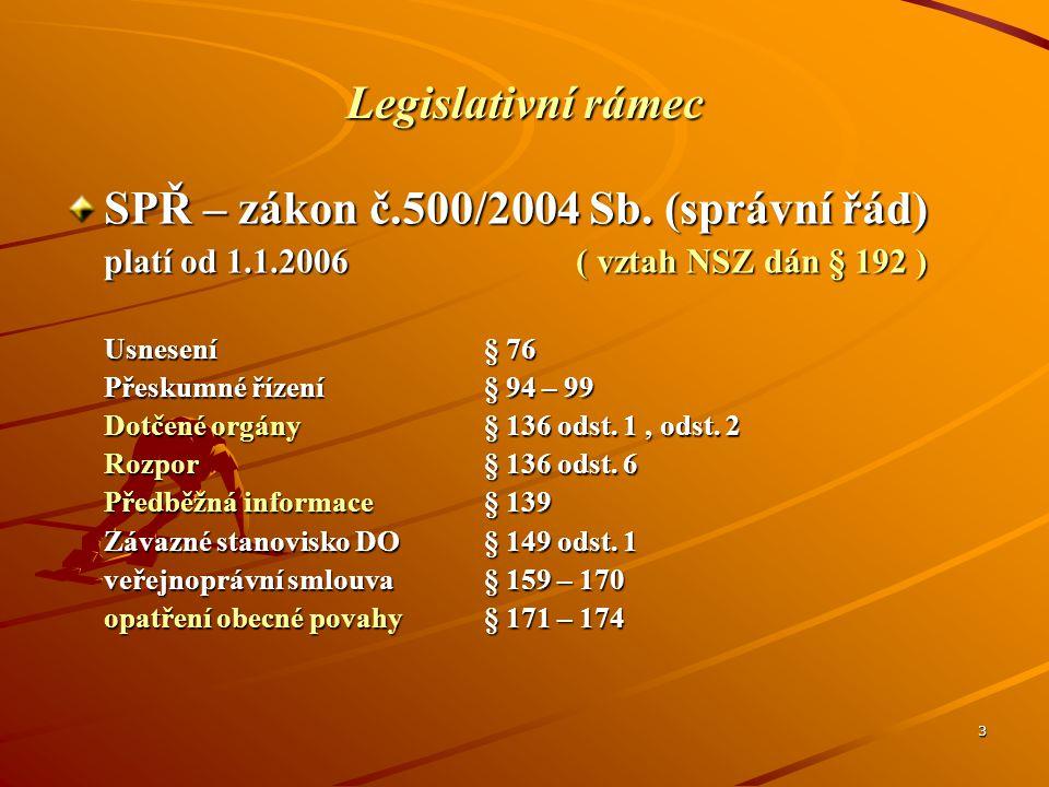 SPŘ – zákon č.500/2004 Sb. (správní řád)