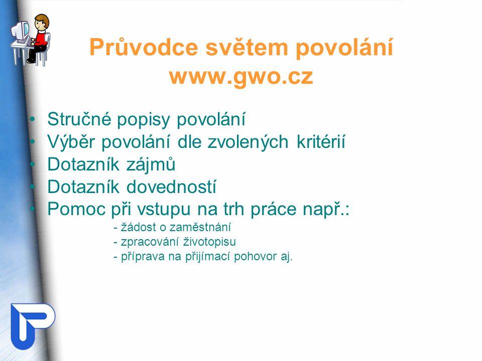 Průvodce světem povolání www.gwo.cz