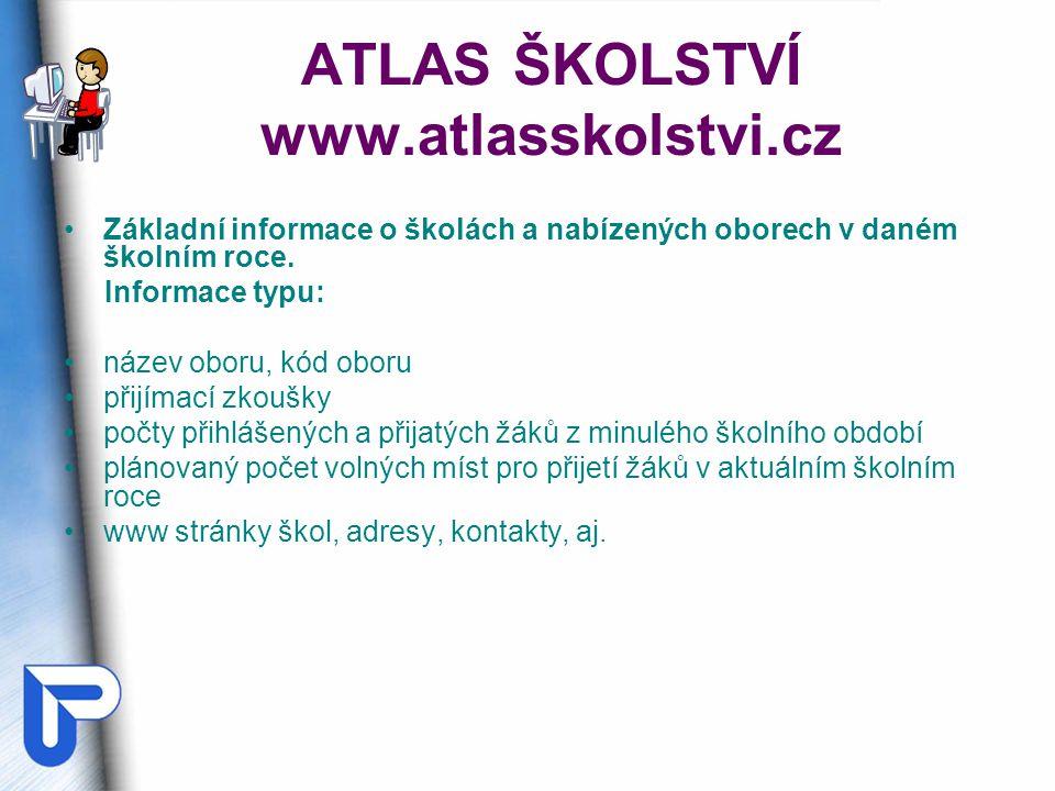 ATLAS ŠKOLSTVÍ www.atlasskolstvi.cz