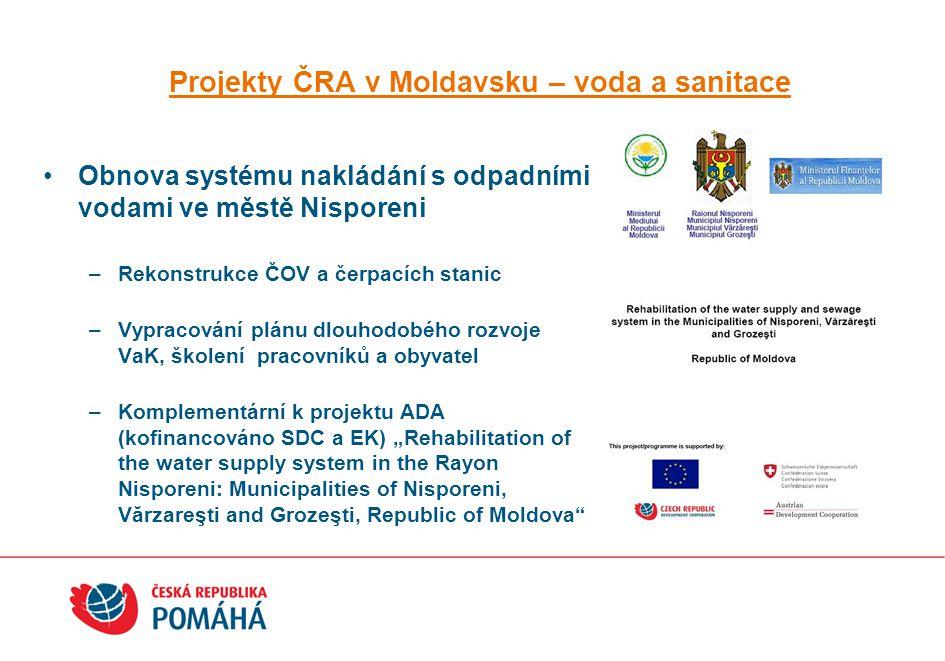Projekty ČRA v Moldavsku – voda a sanitace