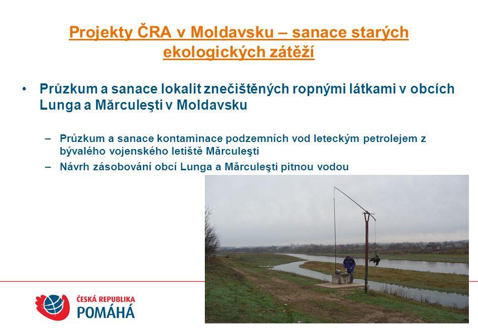 Projekty ČRA v Moldavsku – sanace starých ekologických zátěží