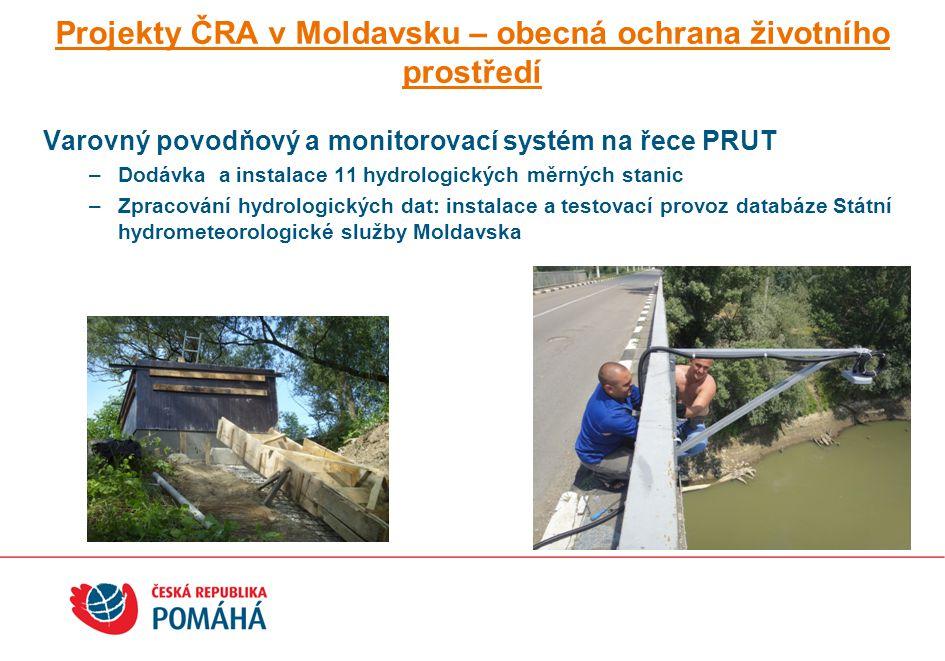Projekty ČRA v Moldavsku – obecná ochrana životního prostředí