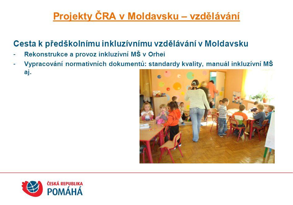 Projekty ČRA v Moldavsku – vzdělávání