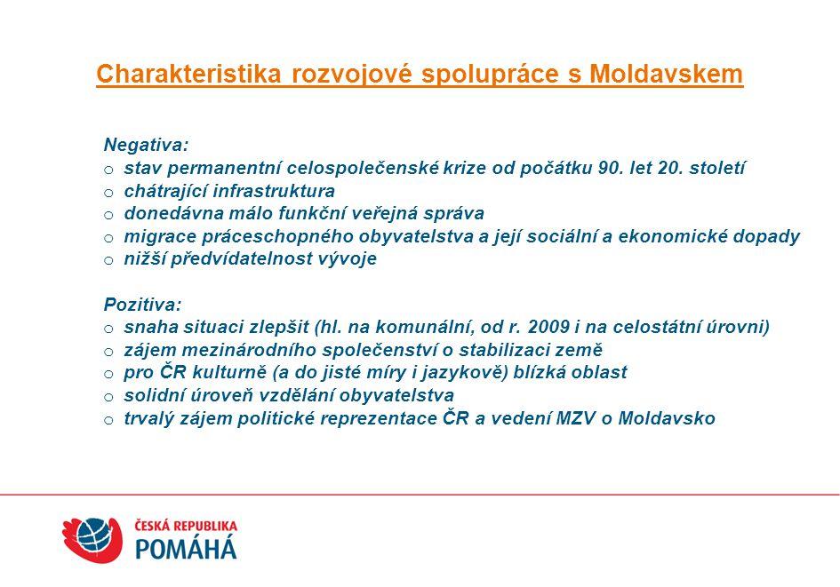 Charakteristika rozvojové spolupráce s Moldavskem