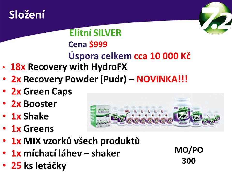 Složení Elitní SILVER 2x Recovery Powder (Pudr) – NOVINKA!!!