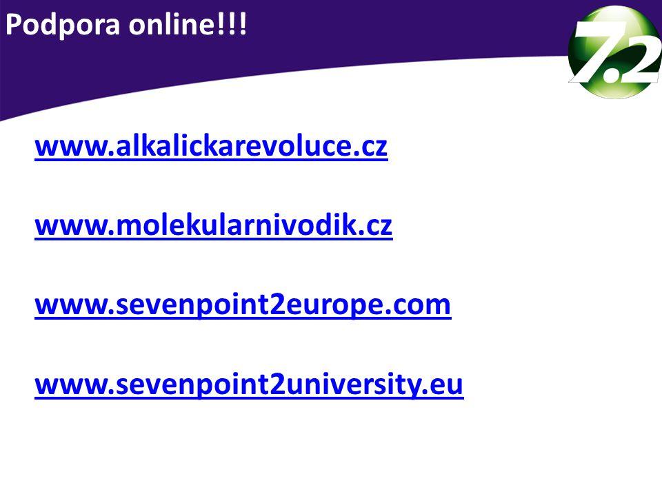 Podpora online!!. www.alkalickarevoluce.cz. www.molekularnivodik.cz.