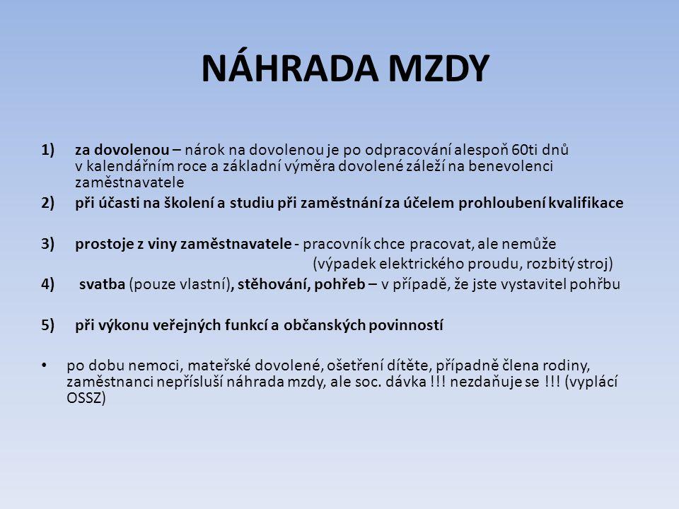 NÁHRADA MZDY