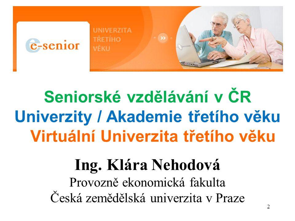 Seniorské vzdělávání v ČR
