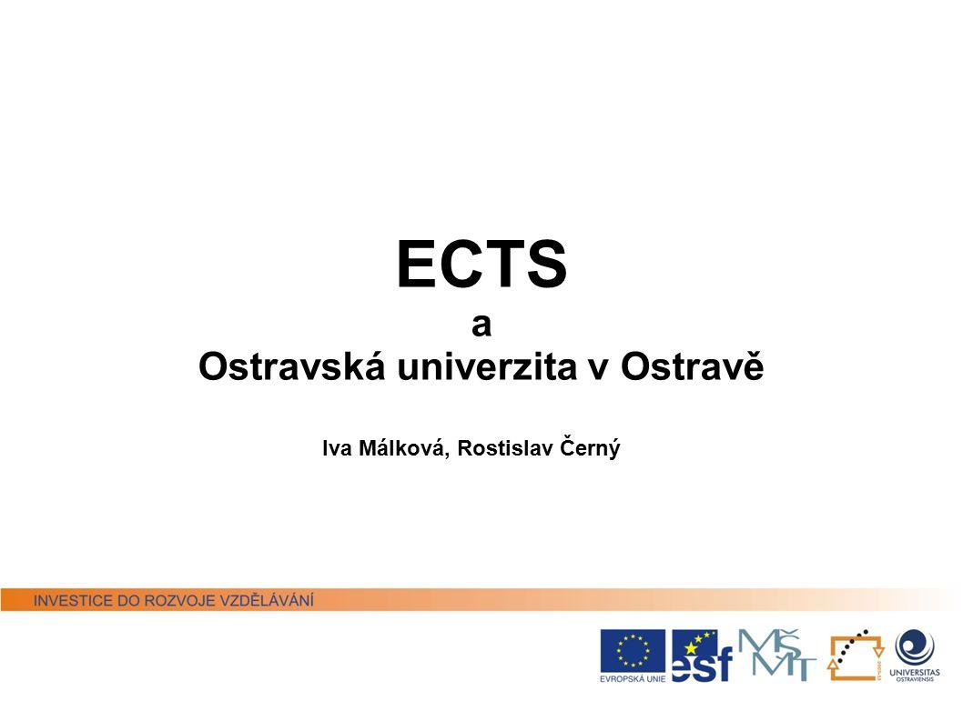 ECTS a Ostravská univerzita v Ostravě