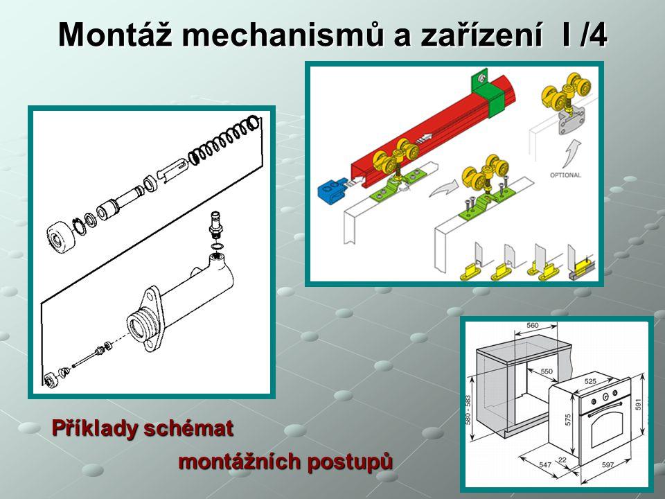 Montáž mechanismů a zařízení I /4
