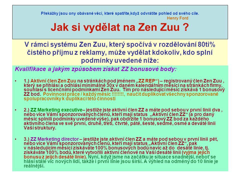 Jak si vydělat na Zen Zuu