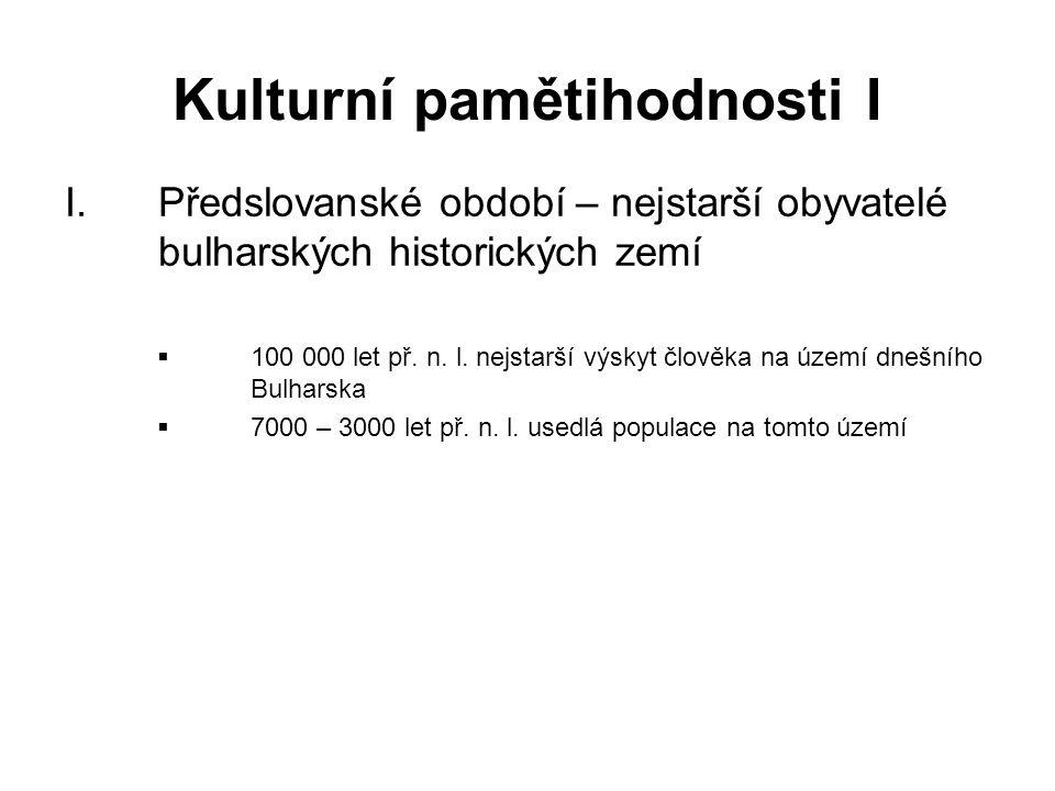 Kulturní pamětihodnosti I