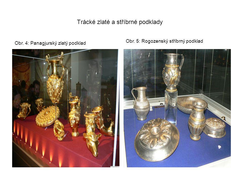 Trácké zlaté a stříbrné podklady