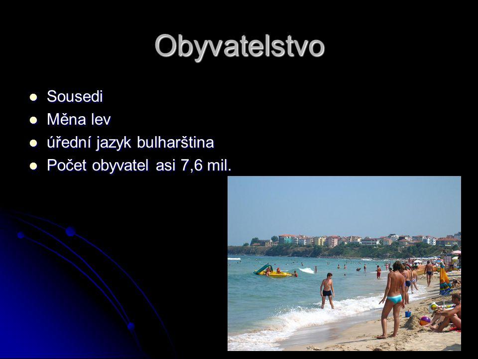Obyvatelstvo Sousedi Měna lev úřední jazyk bulharština