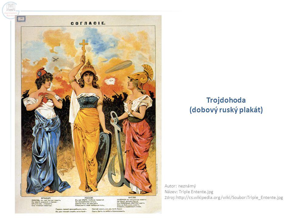 Trojdohoda (dobový ruský plakát)