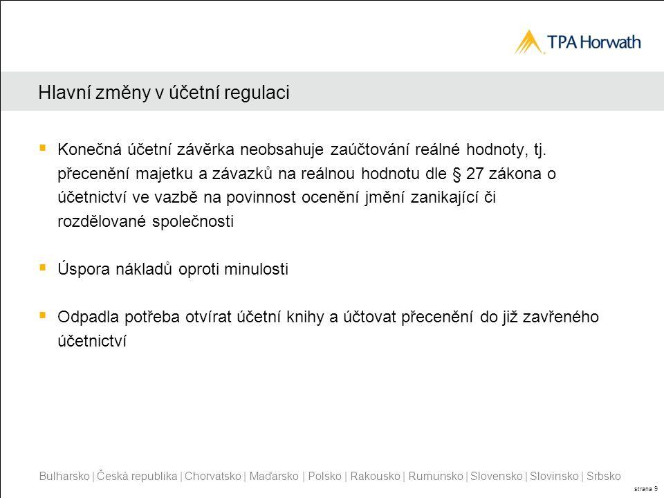 Hlavní změny v účetní regulaci