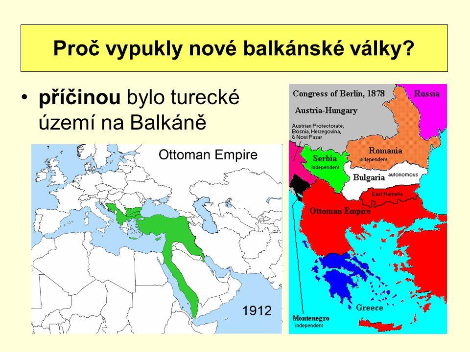 Proč vypukly nové balkánské války