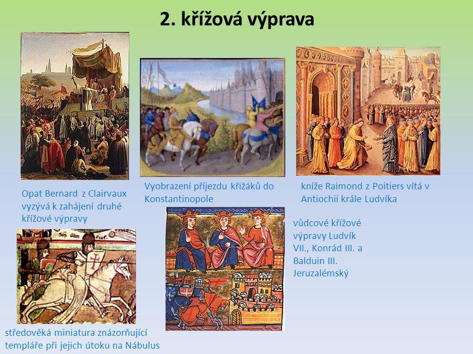 2. křížová výprava Vyobrazení příjezdu křižáků do Konstantinopole