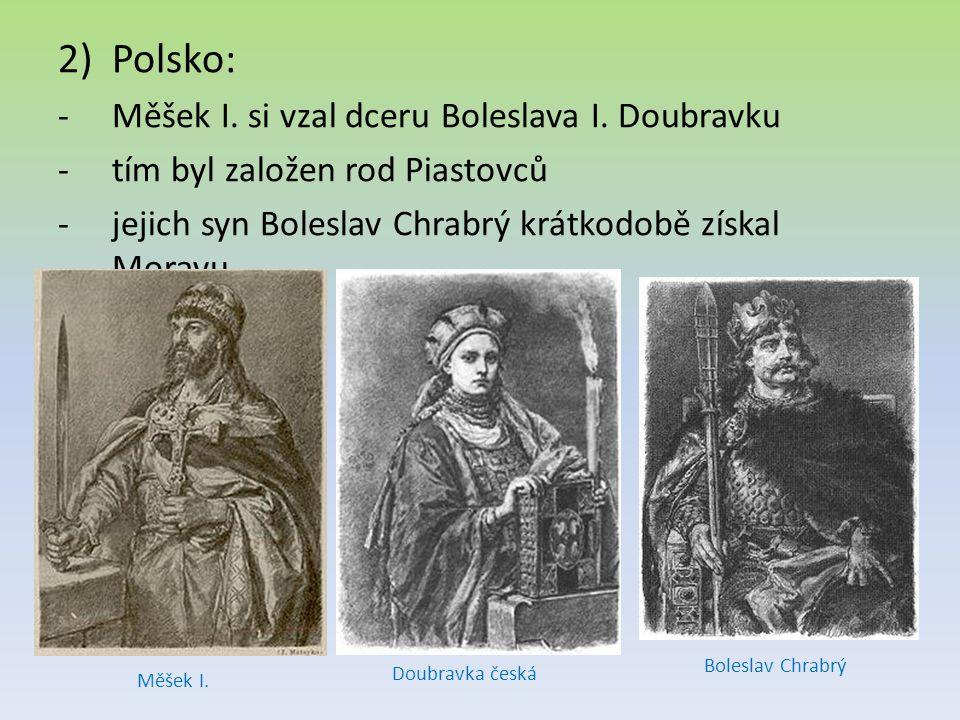 Polsko: Měšek I. si vzal dceru Boleslava I. Doubravku