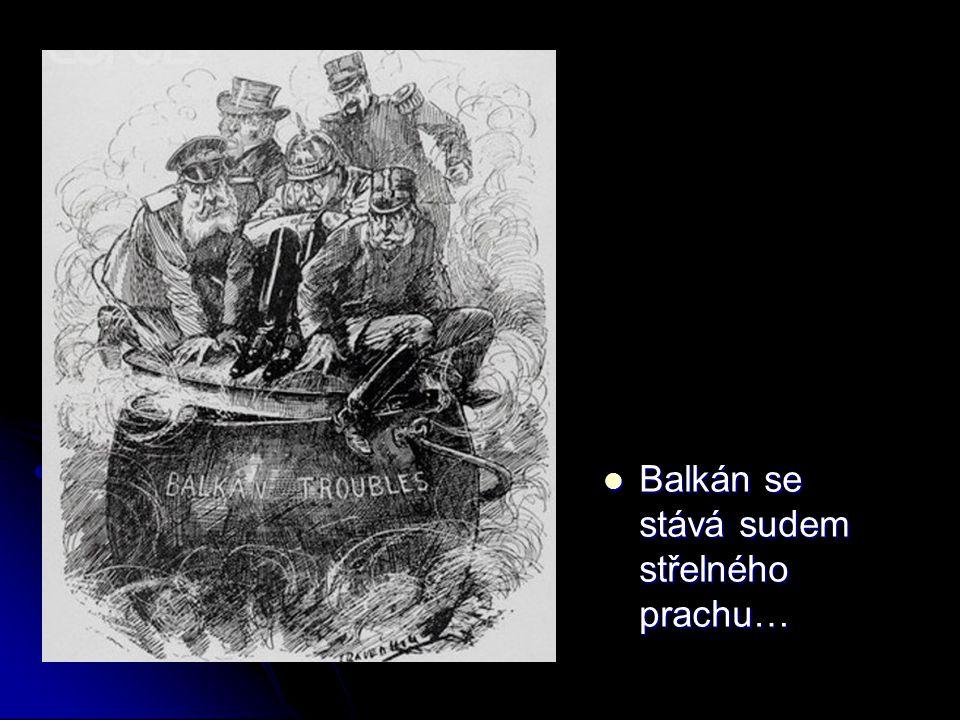 Balkán se stává sudem střelného prachu…