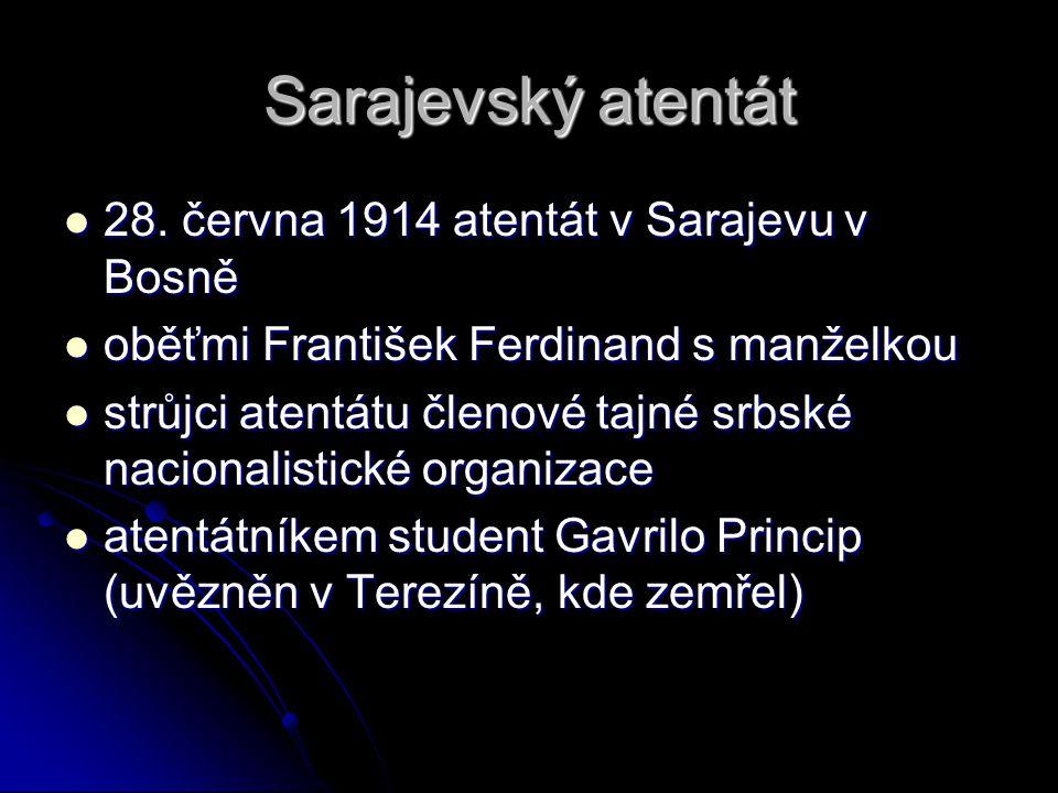 Sarajevský atentát 28. června 1914 atentát v Sarajevu v Bosně
