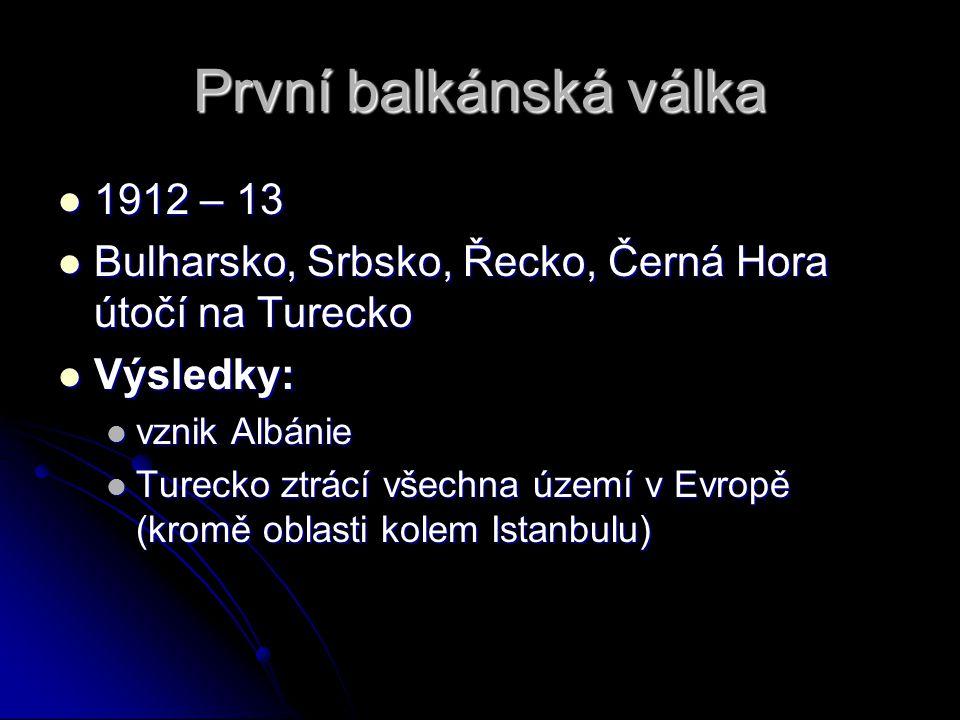 První balkánská válka 1912 – 13