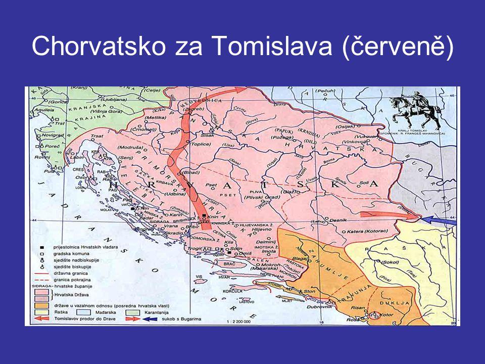 Chorvatsko za Tomislava (červeně)