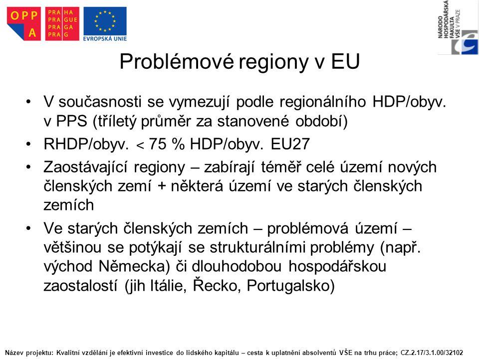 Problémové regiony v EU