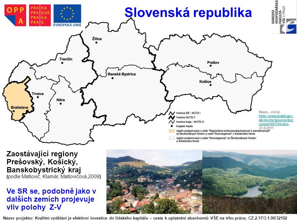 Slovenská republika Mapa – zdroj: http://www.build.gov.sk/mvrrsr/source/document/003104.doc, 27.8.2011.