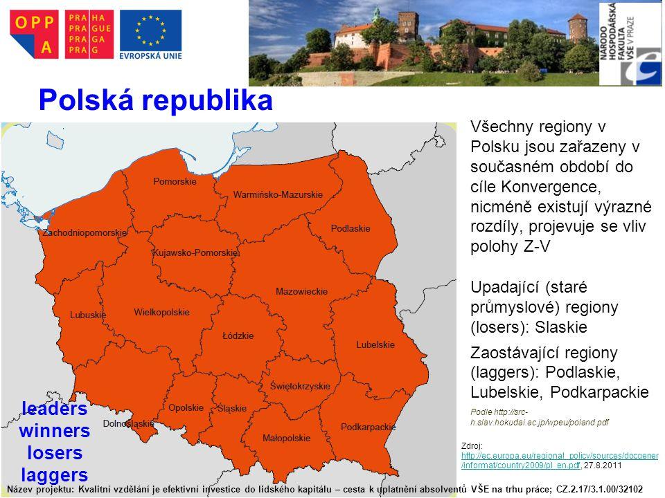 Polská republika leaders winners losers laggers