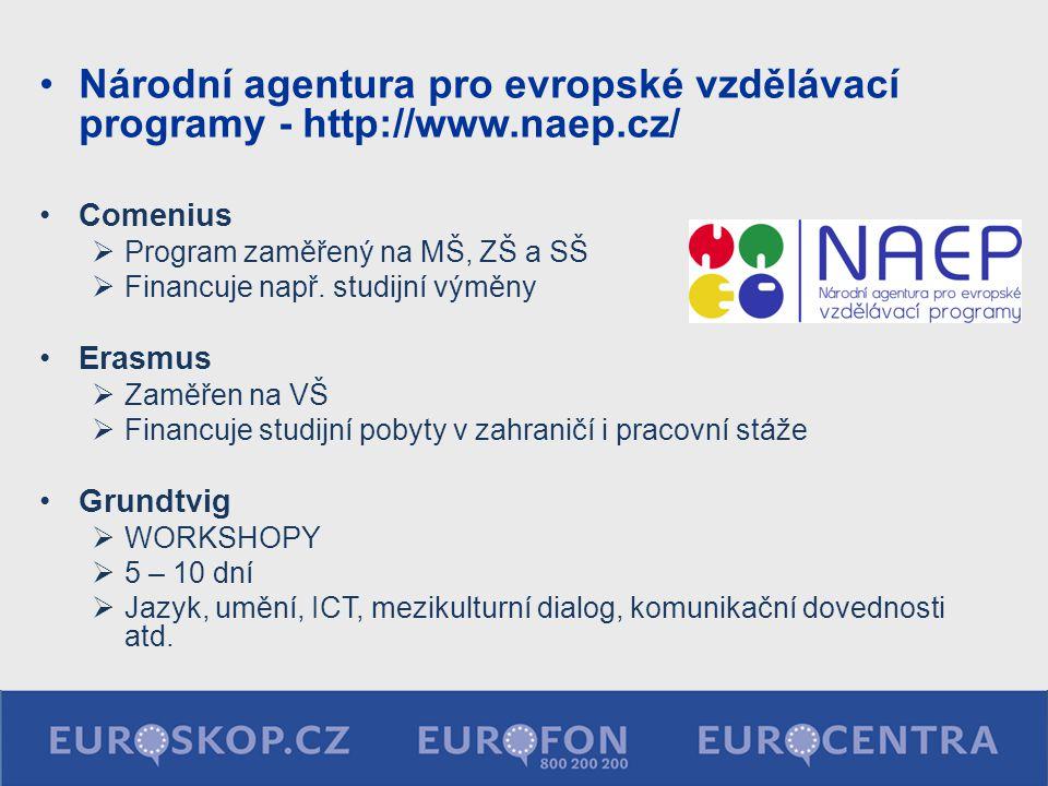 Národní agentura pro evropské vzdělávací programy - http://www. naep