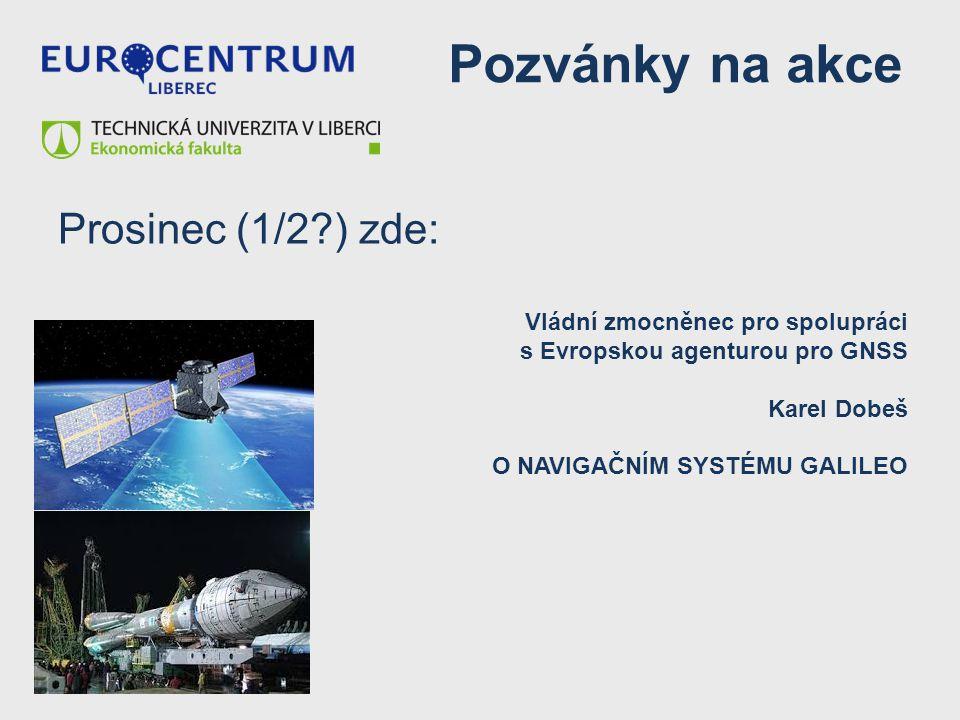 Pozvánky na akce Prosinec (1/2 ) zde: Vládní zmocněnec pro spolupráci
