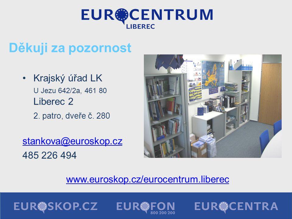 Děkuji za pozornost Krajský úřad LK U Jezu 642/2a, 461 80 Liberec 2