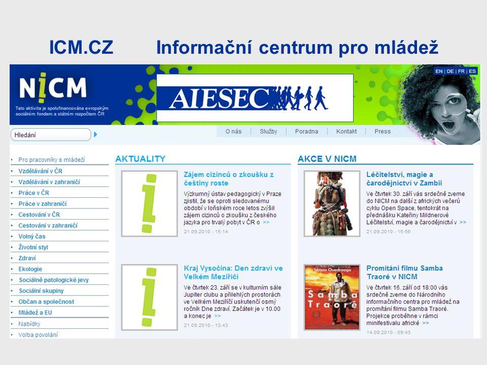 ICM.CZ Informační centrum pro mládež