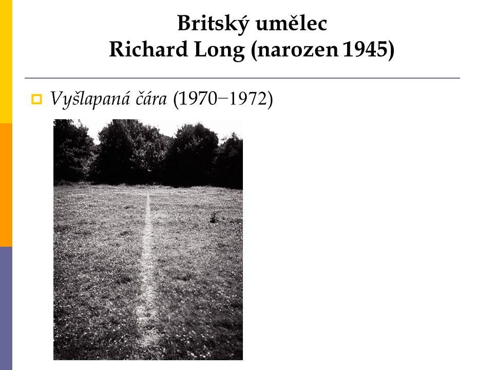 Britský umělec Richard Long (narozen 1945)