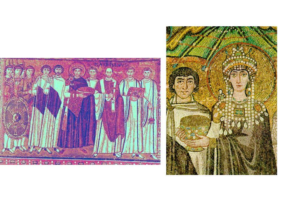 Ravenna San Vitale : císař Justinin a císařovna Theodora